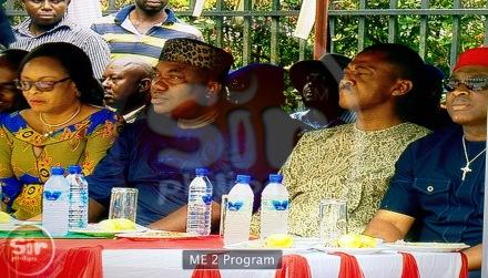 L-R: Hon. Mrs Cecilia Ezeilo, Gov. Ifeanyi Ugwuanyi, Sullivan Chime, Ikeje Asogwa