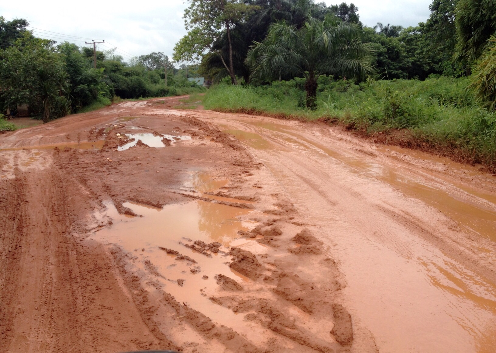 CONDITION OF THE ROAD AS AT 16th AUGUST, 2015.